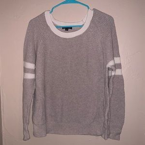 Knit sweater with stripes on sleeves XL